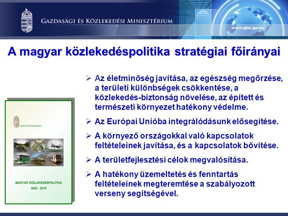  Az életminőség javítása, az egészség megőrzése, a területi különbségek csökkentése, a közlekedés-biztonság növelése, az épített és természeti környe
