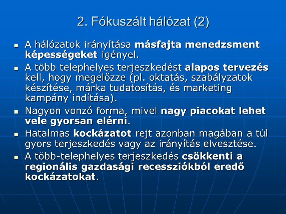 2. Fókuszált hálózat (2) A hálózatok irányítása másfajta menedzsment képességeket igényel. A hálózatok irányítása másfajta menedzsment képességeket ig