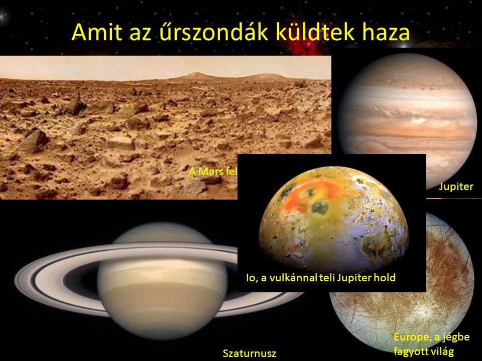 Amit az űrszondák küldtek haza A Mars felszíne Szaturnusz Jupiter Europe, a jégbe fagyott világ Io, a vulkánnal teli Jupiter hold