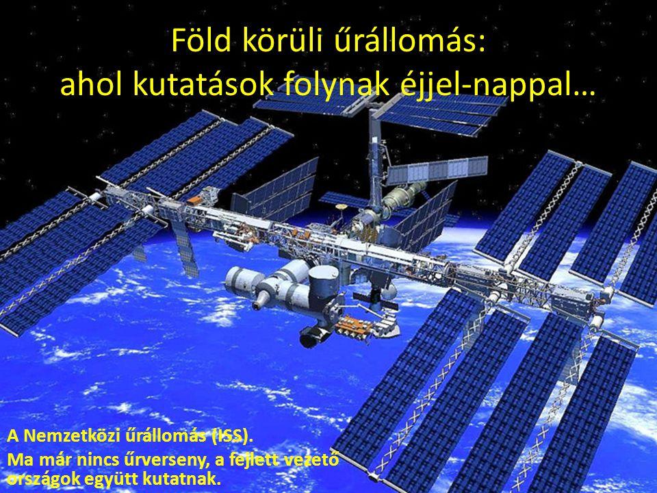 Föld körüli űrállomás: ahol kutatások folynak éjjel-nappal… A Nemzetközi űrállomás (ISS). Ma már nincs űrverseny, a fejlett vezető országok együtt kut