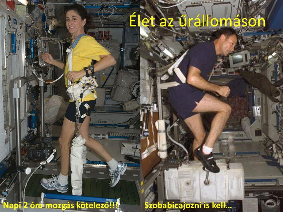 Élet az űrállomáson Napi 2 óra mozgás kötelező!!!Szobabicajozni is kell…