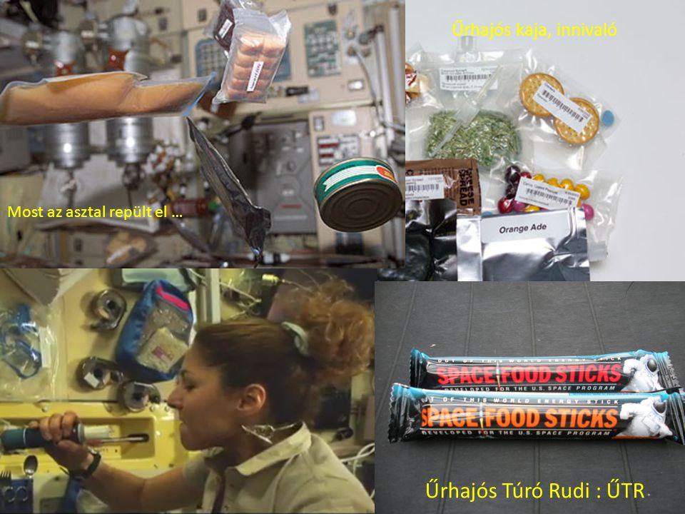 Űrhajós Túró Rudi : ŰTR Űrhajós kaja, innivaló Most az asztal repült el …
