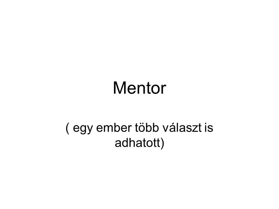 Mentor ( egy ember több választ is adhatott)