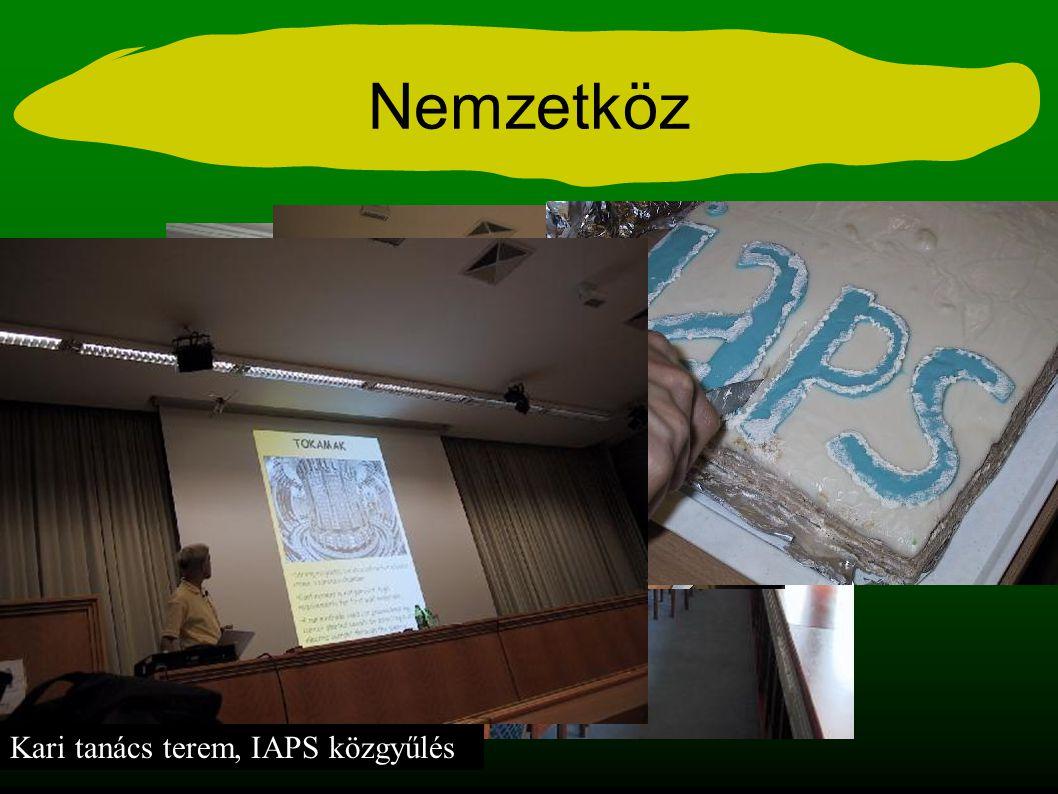 Nemzetköz Kari tanács terem, IAPS közgyűlés
