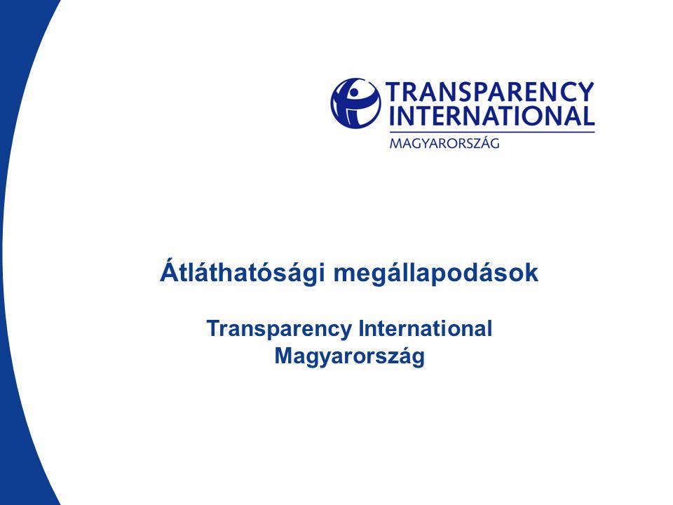 Tartalom  Átláthatósági megállapodások  Felek kötelezettségei  Szankciók, viták  Monitoring  Átláthatóság  Eredmények  Miért jó.