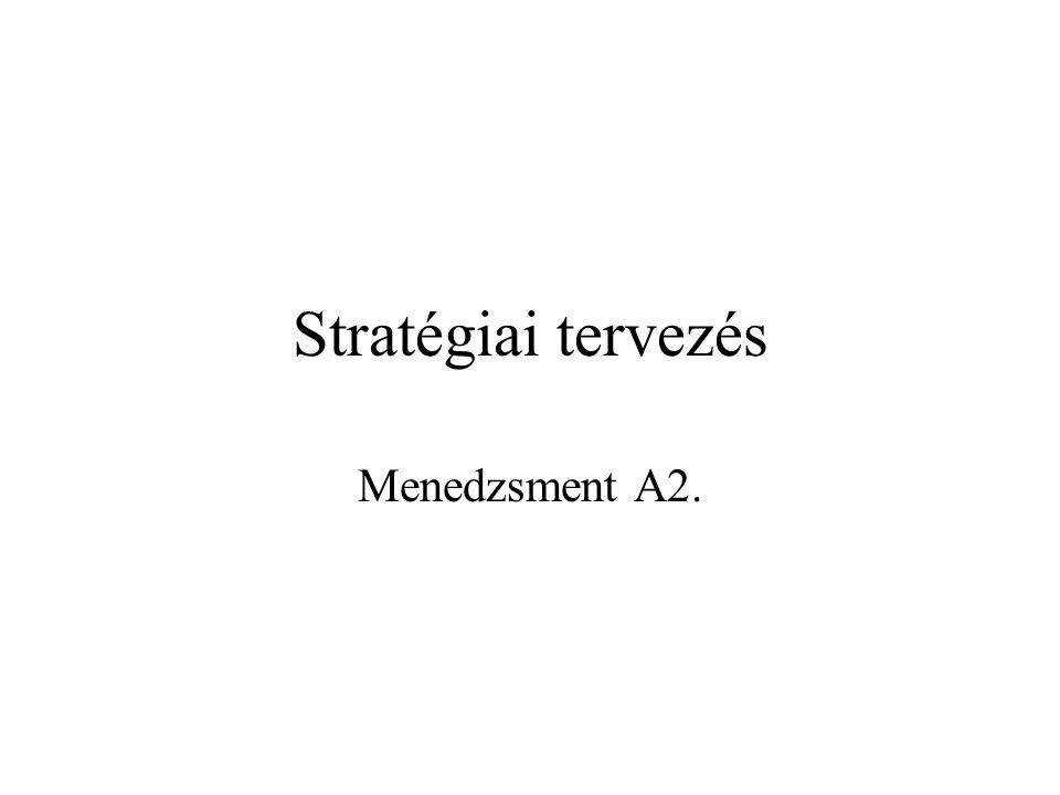 Stratégiai tervezés Menedzsment A2.