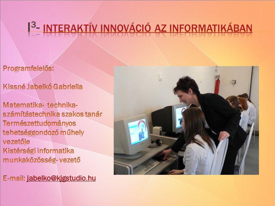 2008 szeptemberében indítottuk emelt szintű számítástechnika képzésünket.