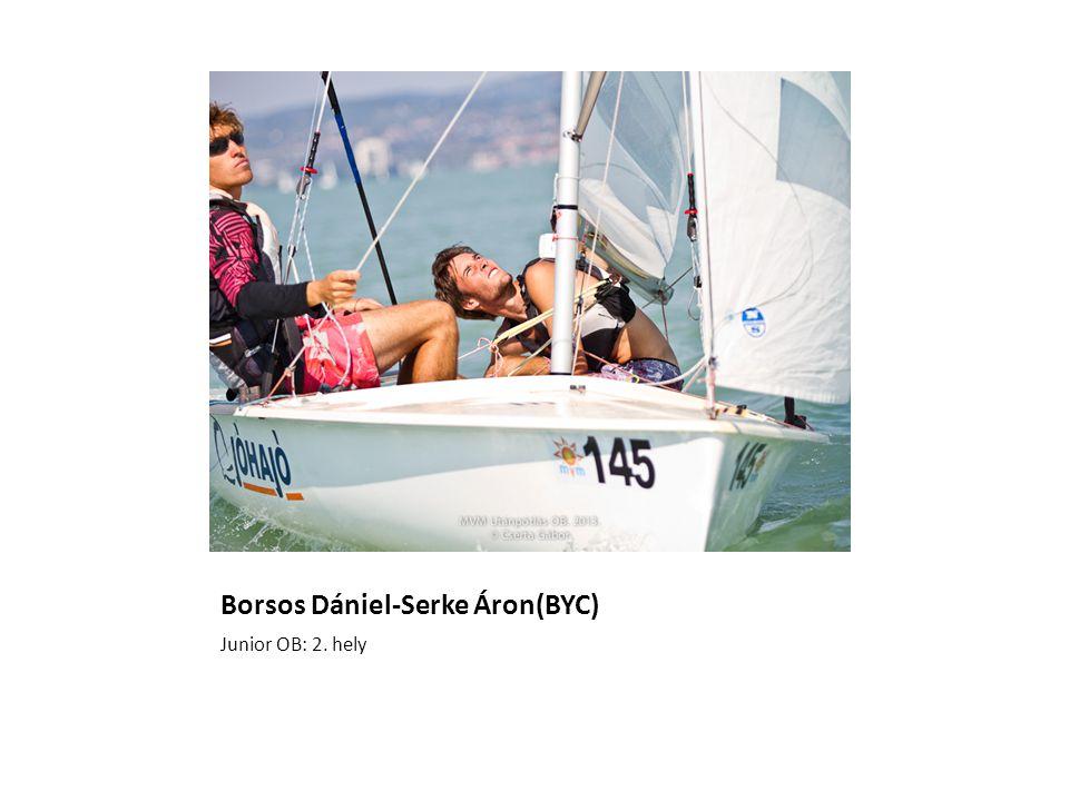 Borsos Dániel-Serke Áron(BYC) Junior OB: 2. hely