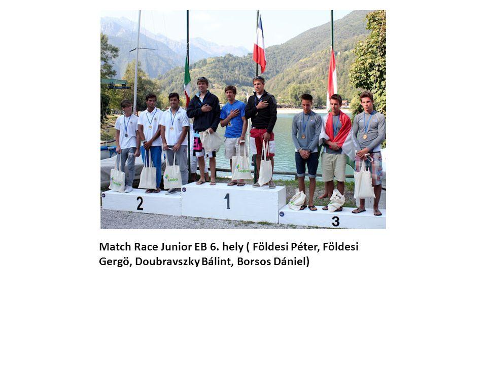 Match Race Junior EB 6. hely ( Földesi Péter, Földesi Gergö, Doubravszky Bálint, Borsos Dániel)
