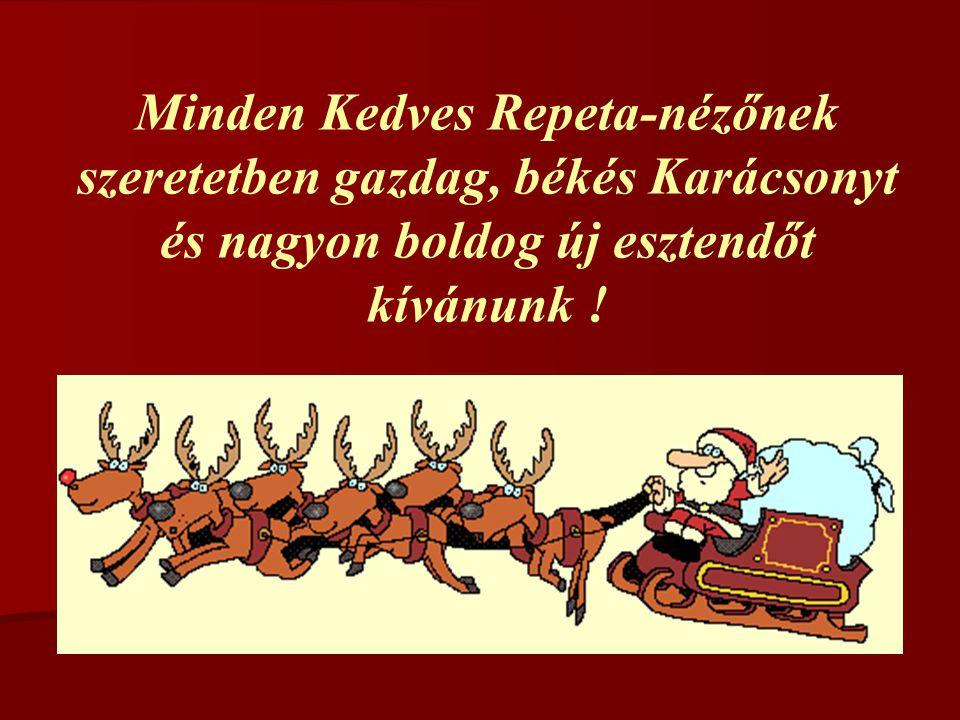 Minden Kedves Repeta-nézőnek szeretetben gazdag, békés Karácsonyt és nagyon boldog új esztendőt kívánunk !
