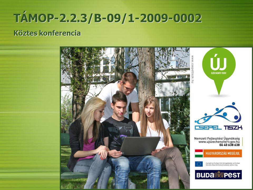 TÁMOP-2.2.3/B-09/1-2009-0002 Köztes konferencia