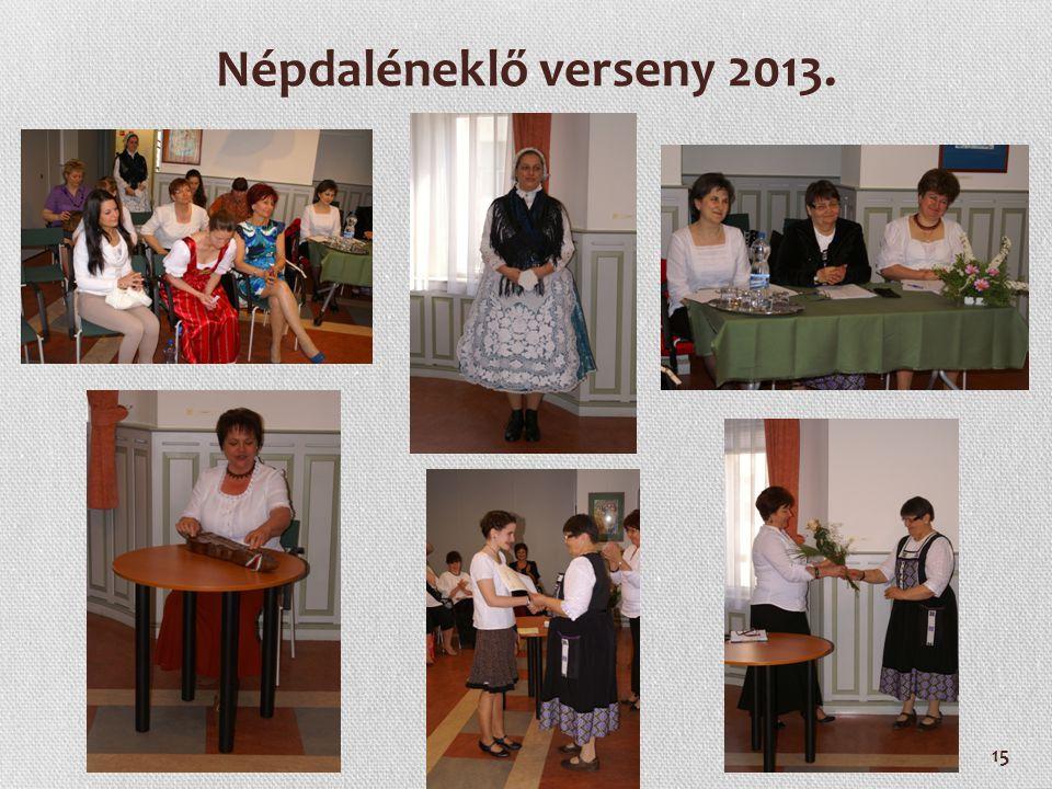 15 Népdaléneklő verseny 2013.