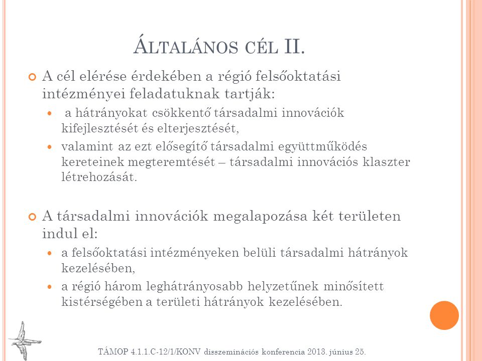 Á LTALÁNOS CÉL II.