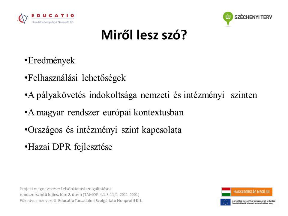 Miről lesz szó? Projekt megnevezése: Felsőoktatási szolgáltatások rendszerszintű fejlesztése 2. ütem (TÁMOP-4.1.3-11/1-2011-0001) Főkedvezményezett: E