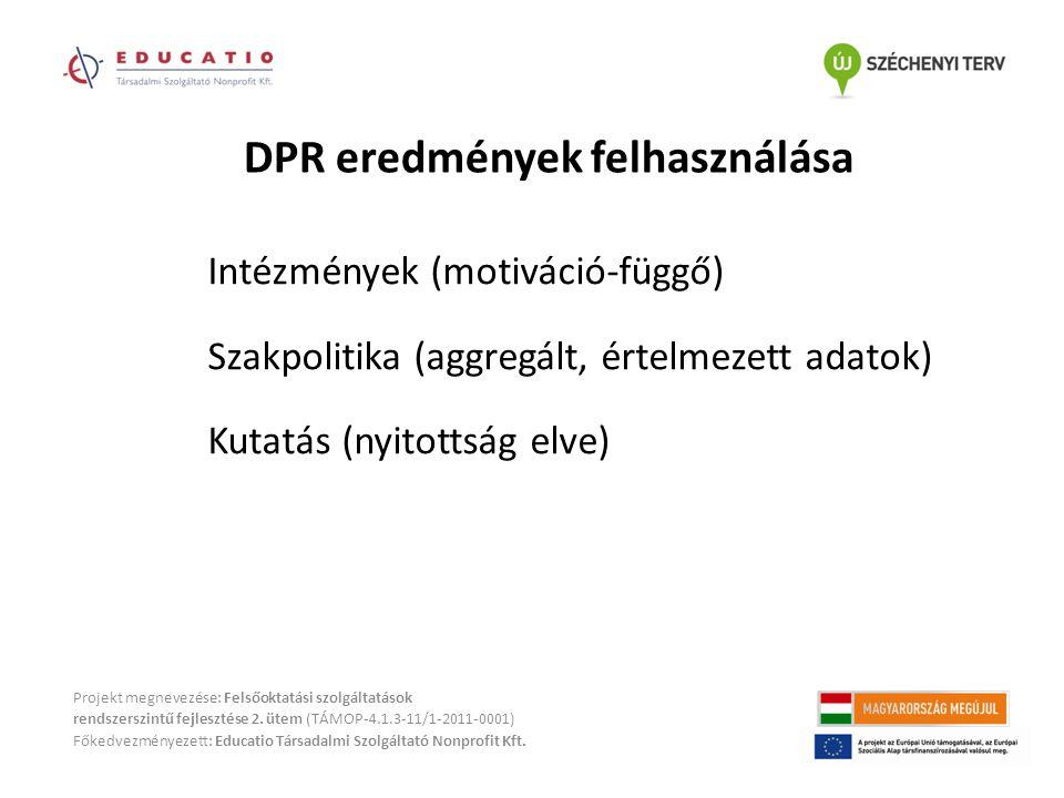 Projekt megnevezése: Felsőoktatási szolgáltatások rendszerszintű fejlesztése 2. ütem (TÁMOP-4.1.3-11/1-2011-0001) Főkedvezményezett: Educatio Társadal