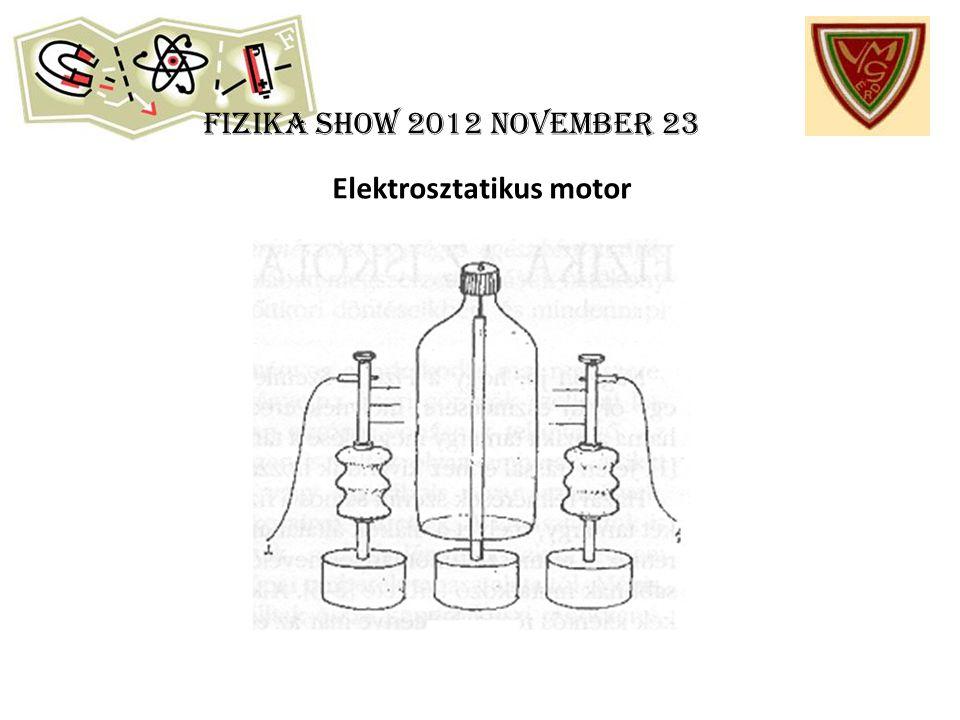 Fizika show 2012 november 23 Elektrosztatikus motor