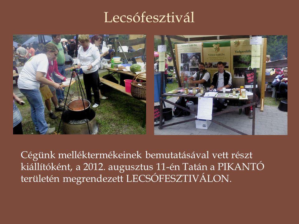 Lecsófesztivál Cégünk melléktermékeinek bemutatásával vett részt kiállítóként, a 2012. augusztus 11-én Tatán a PIKANTÓ területén megrendezett LECSÓFES