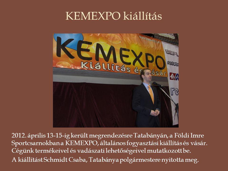 KEMEXPO kiállítás 2012. április 13-15-ig került megrendezésre Tatabányán, a Földi Imre Sportcsarnokban a KEMEXPO, általános fogyasztási kiállítás és v