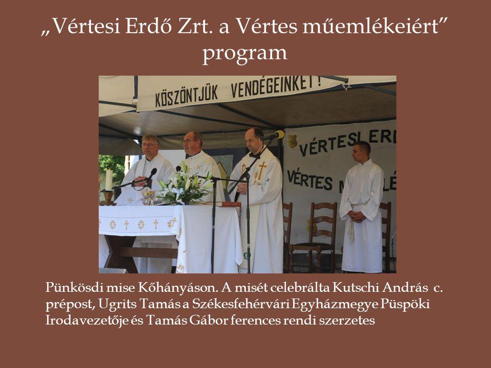 Pünkösdi mise Kőhányáson. A misét celebrálta Kutschi András c. prépost, Ugrits Tamás a Székesfehérvári Egyházmegye Püspöki Irodavezetője és Tamás Gábo