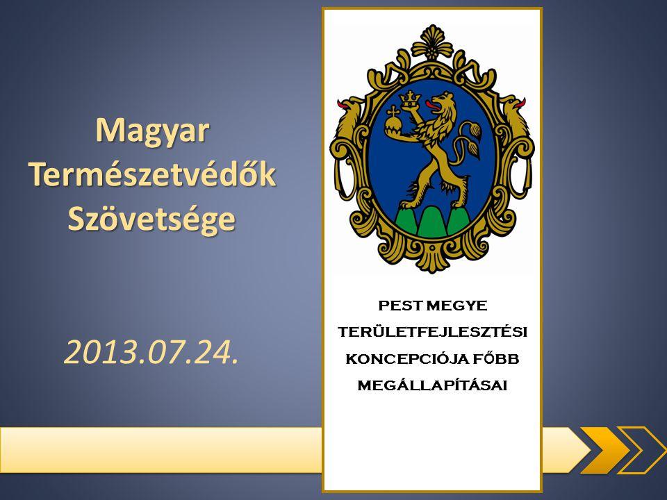PEST MEGYE TERÜLETFEJLESZTÉSI KONCEPCIÓJA F Ő BB MEGÁLLAPÍTÁSAI Magyar Természetvédők Szövetsége 2013.07.24.