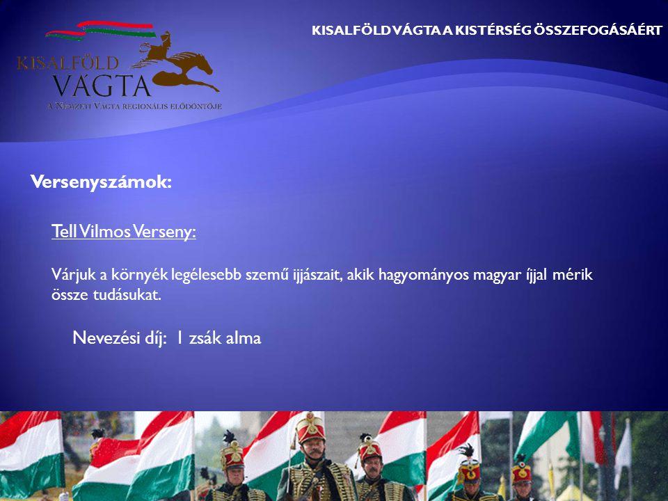 KISALFÖLD VÁGTA A KISTÉRSÉG ÖSSZEFOGÁSÁÉRT Tell Vilmos Verseny: Várjuk a környék legélesebb szemű ijjászait, akik hagyományos magyar íjjal mérik össze tudásukat.