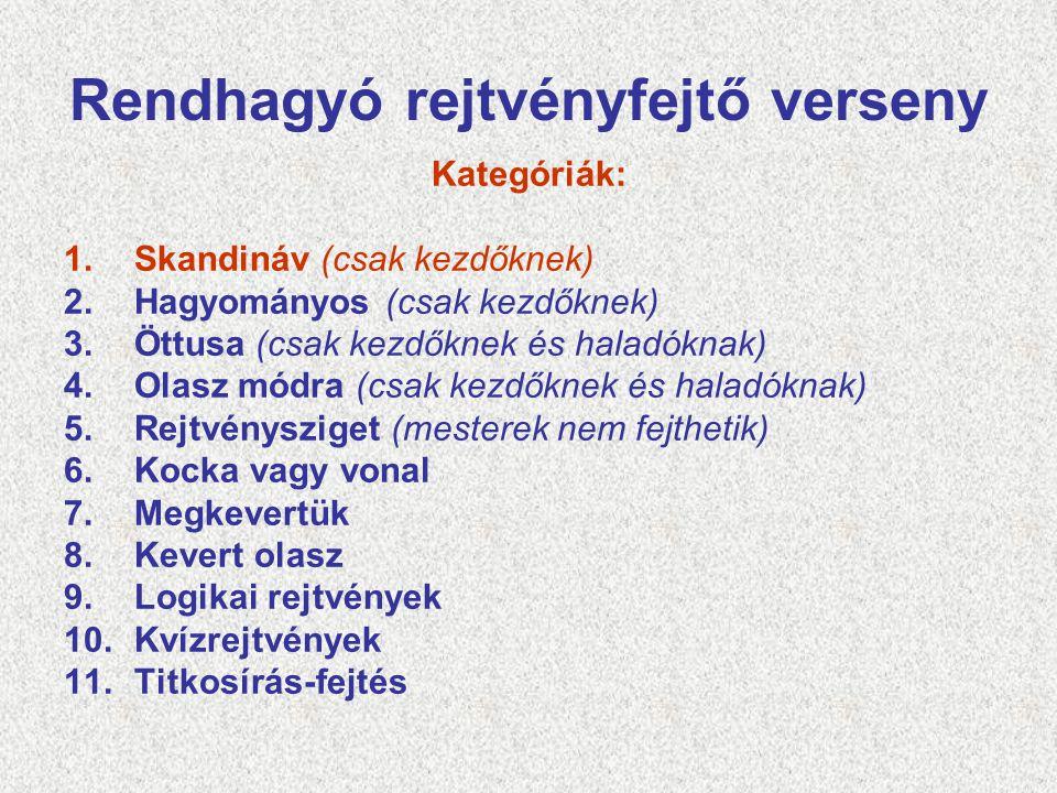 1. Skandináv (csak kezdőknek) A teljes ábrát ki kell tölteni, nem csak a fősorokat!