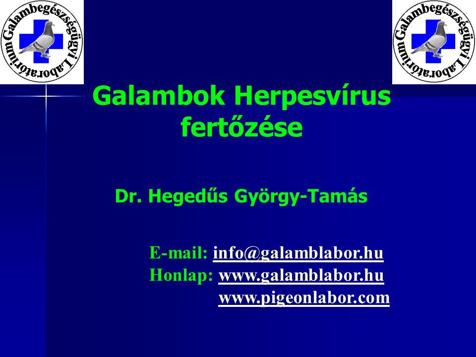 Galambok Herpesvírus fertőzése Dr.
