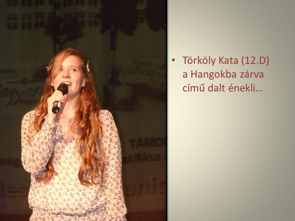 Törköly Kata (12.D) a Hangokba zárva című dalt énekli…
