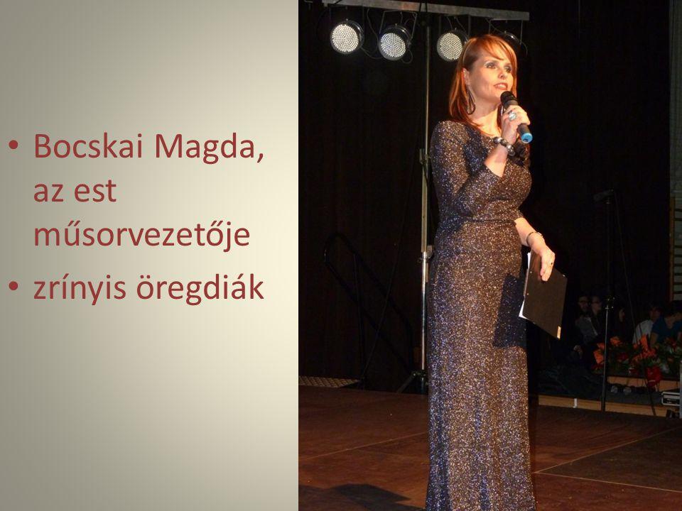 Bocskai Magda, az est műsorvezetője zrínyis öregdiák