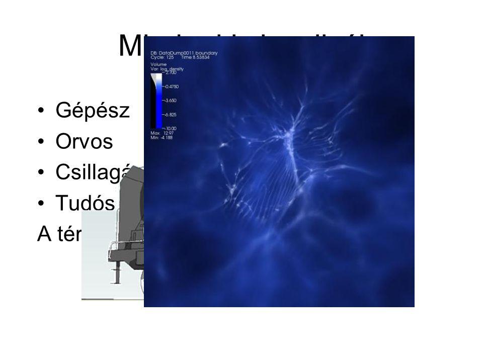 Mindenki vizualizál Gépész Orvos Csillagász Tudós A térélményt a mozgás adja