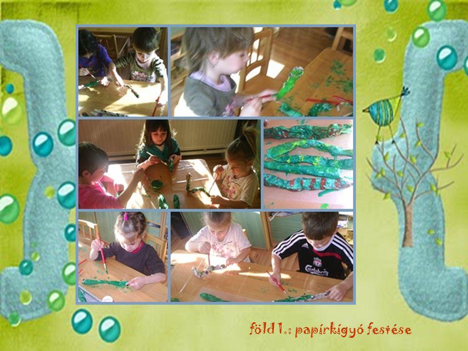 föld 1.: papírkígyó festése