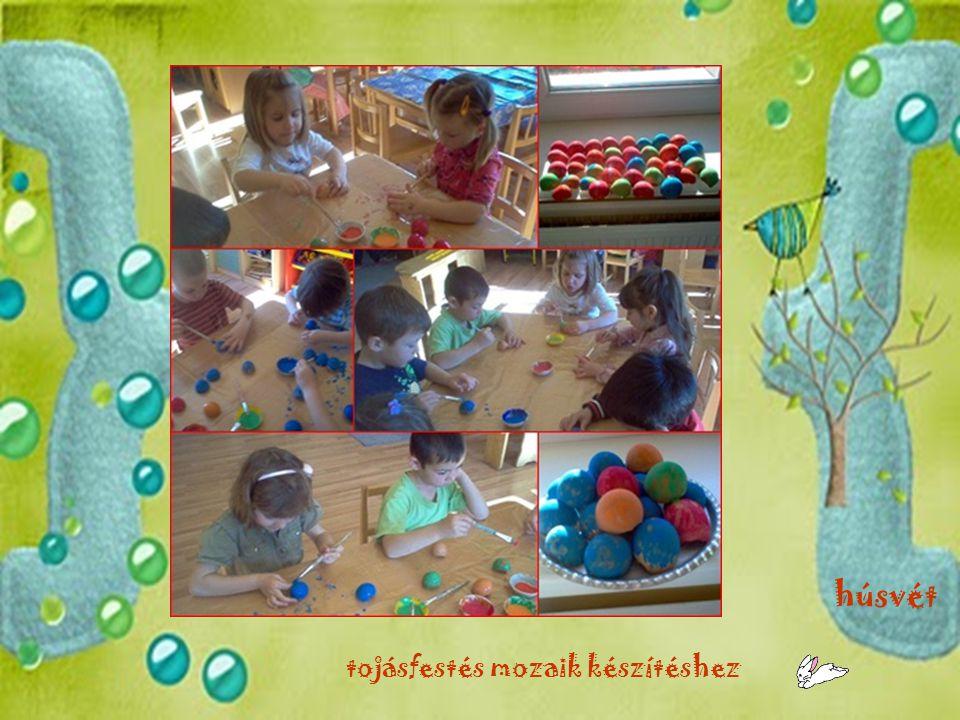 húsvét tojásfestés mozaik készítéshez