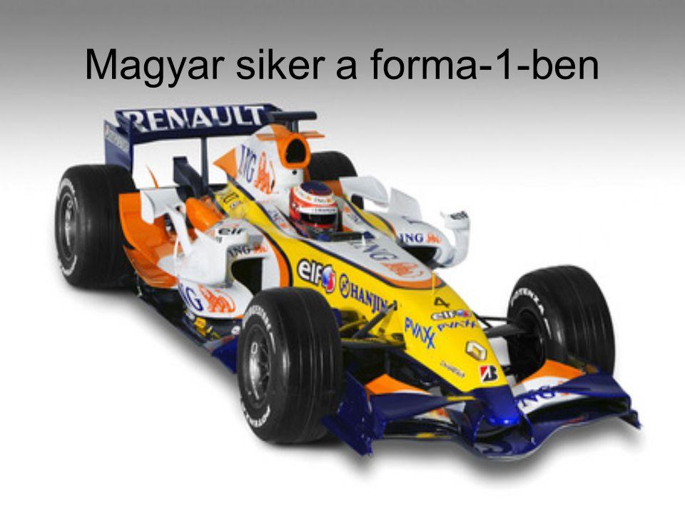 Magyar siker a forma-1-ben