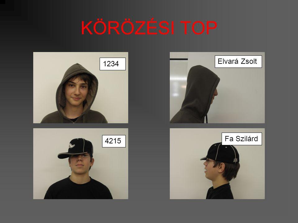 KÖRÖZÉSI TOP 1234 Elvará Zsolt 4215 Fa Szilárd
