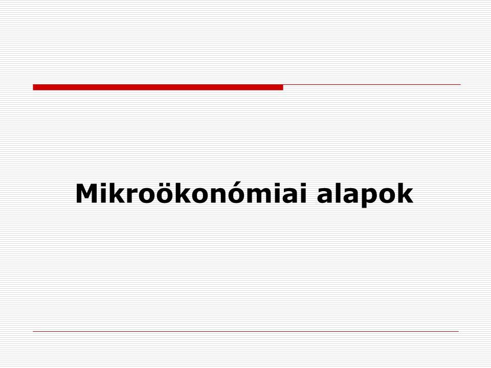Mikroökonómiai alapok