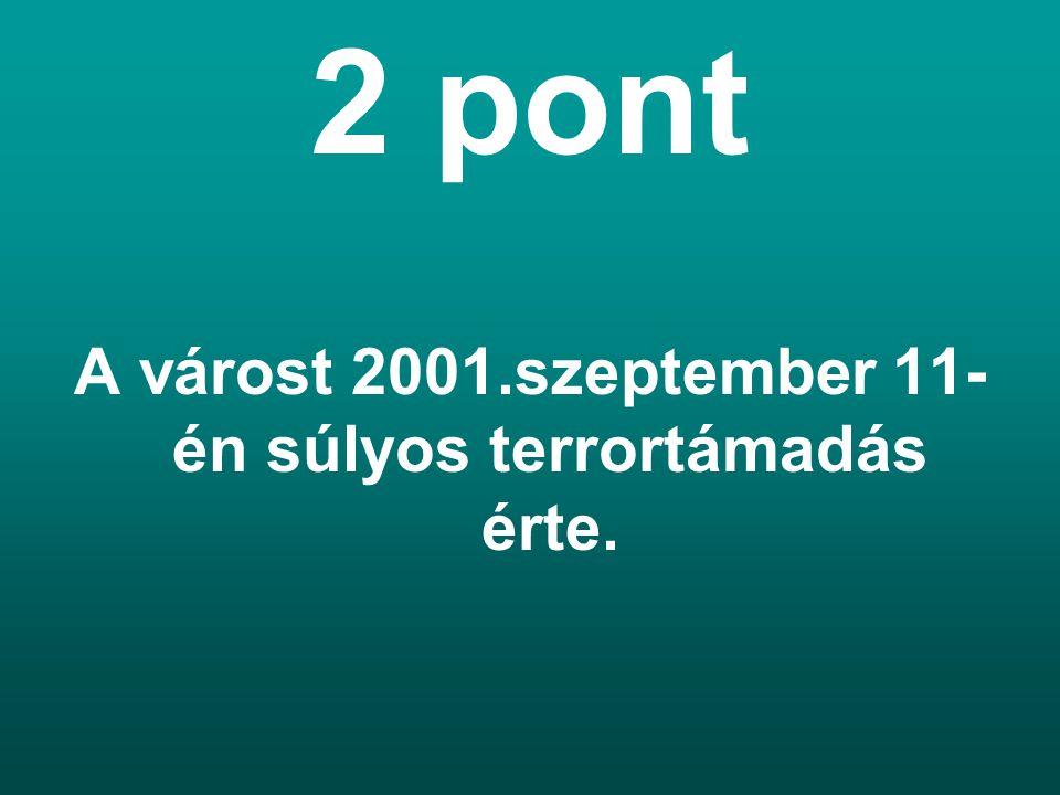 2 pont A várost 2001.szeptember 11- én súlyos terrortámadás érte.
