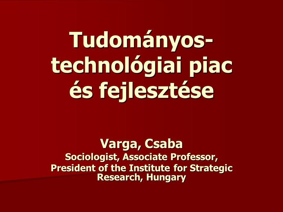 Innovációs járulék A Kutatási és Technológiai Innovációs Alap a kutatás- fejlesztés és a technológiai innováció állami támogatását biztosító és kizárólag ezt a célt szolgáló - az államháztartásról szóló 1992.