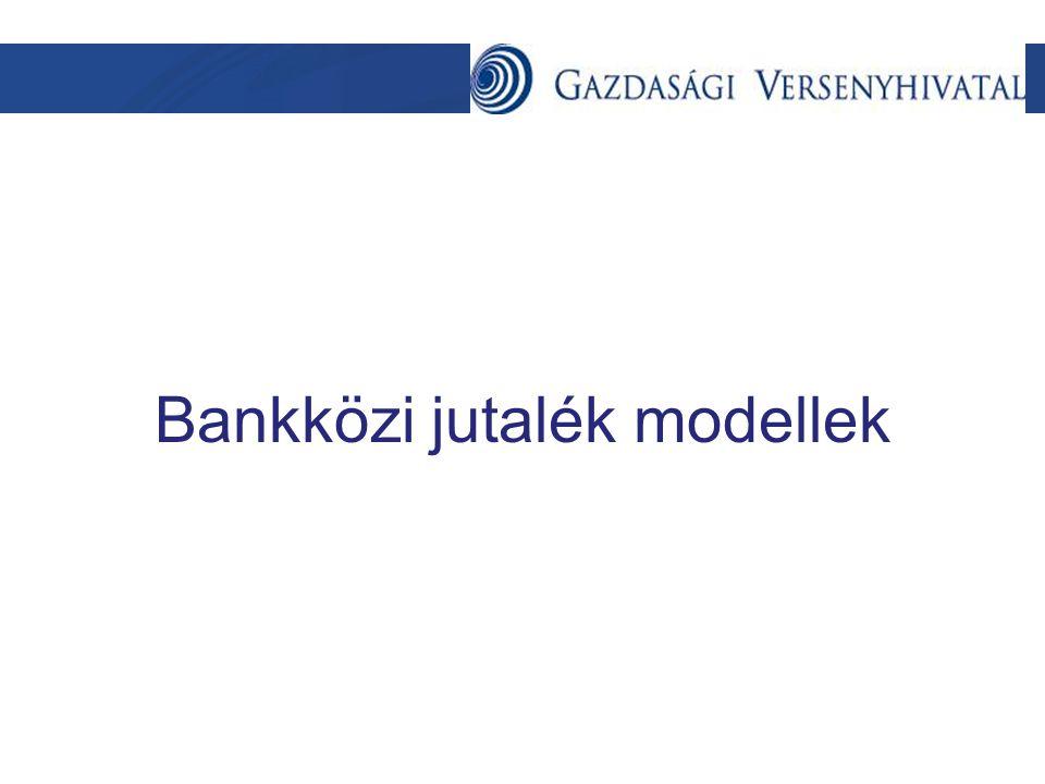 Bankközi jutalék modellek