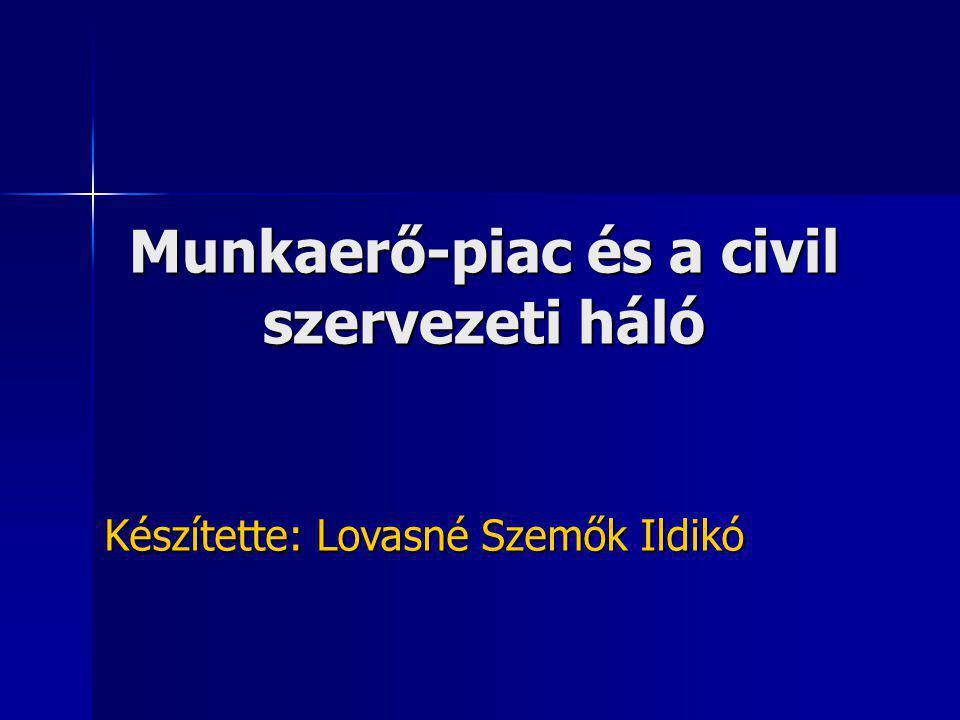 Munkaerő-piac és a civil szervezeti háló Készítette: Lovasné Szemők Ildikó