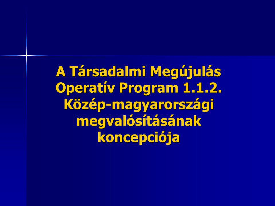 A Társadalmi Megújulás Operatív Program 1.1.2. Közép-magyarországi megvalósításának koncepciója