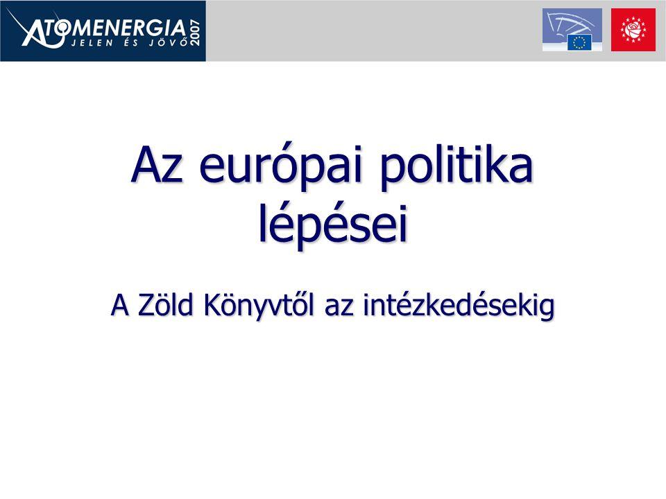 Az európai politika lépései A Zöld Könyvtől az intézkedésekig