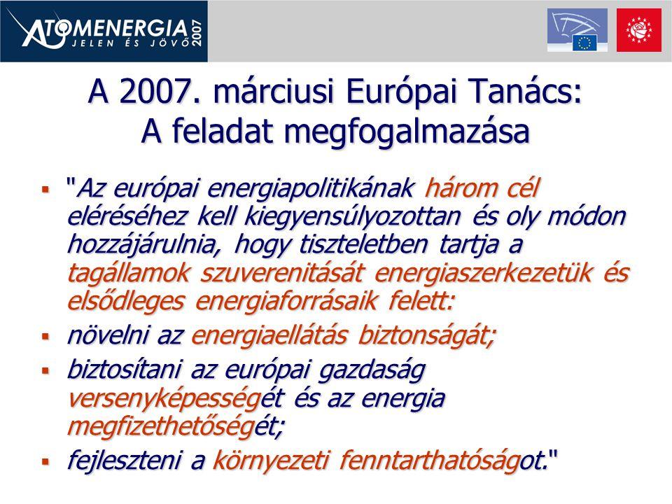 A 2007. márciusi Európai Tanács: A feladat megfogalmazása 