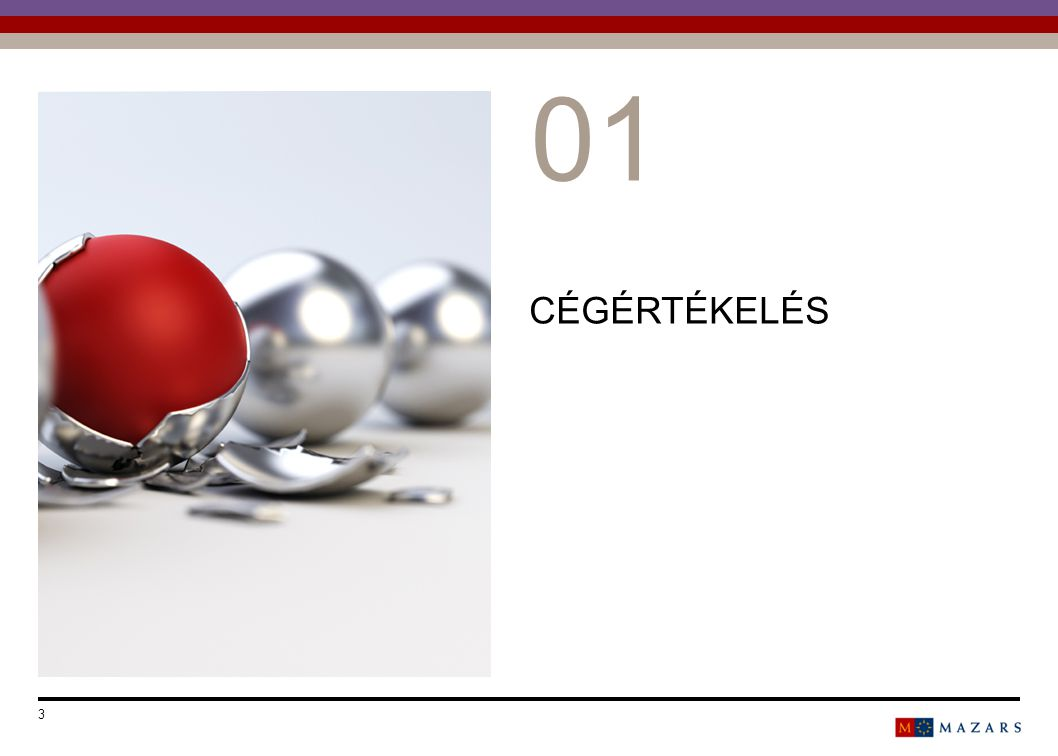 CÉGÉRTÉKELÉS Date 3 Titre de la présentation 0101 Number can be customized as follows: Select the text and change the number