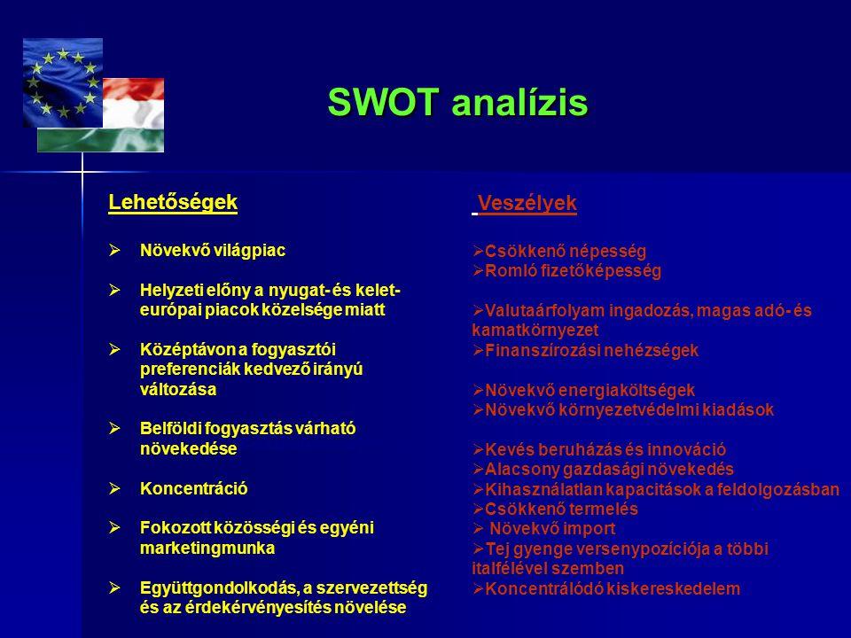 SWOT analízis SWOT analízis Lehetőségek  Növekvő világpiac  Helyzeti előny a nyugat- és kelet- európai piacok közelsége miatt  Középtávon a fogyasz