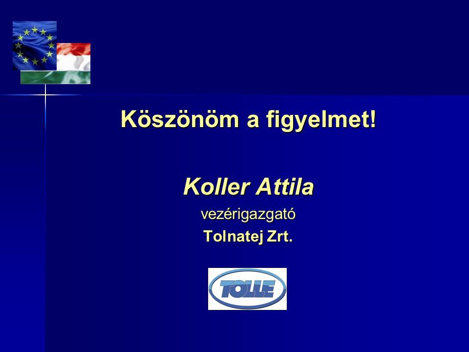 Köszönöm a figyelmet! Koller Attila vezérigazgató Tolnatej Zrt.