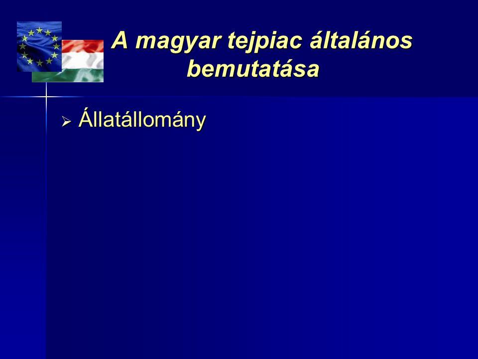 A magyar tejpiac általános bemutatása A magyar tejpiac általános bemutatása  Állatállomány