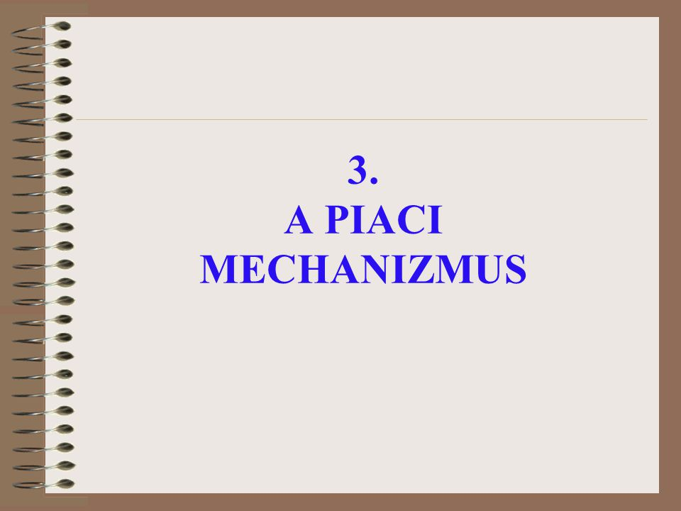 3. A PIACI MECHANIZMUS