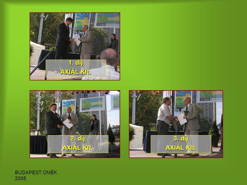 BUDAPEST OMÉK 2005 1. díj AXIÁL Kft. 2. díj AXIÁL Kft. 3. díj AXIÁL Kft.