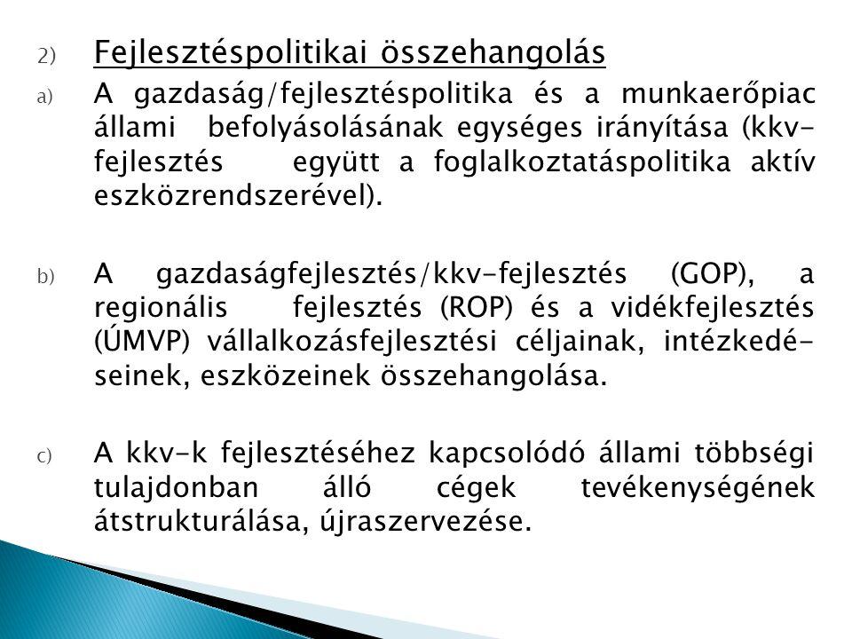 Negatív látásmód: a Gazdaságfejlesztési Operatív Programban (GOP) 2010.