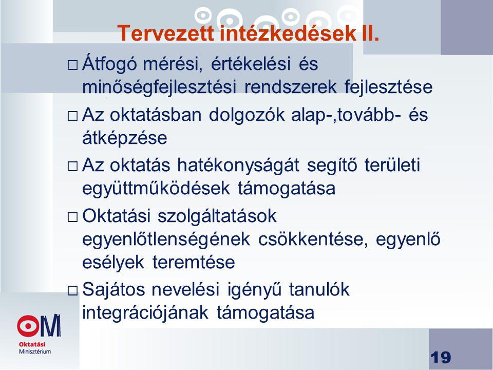 19 Tervezett intézkedések II.